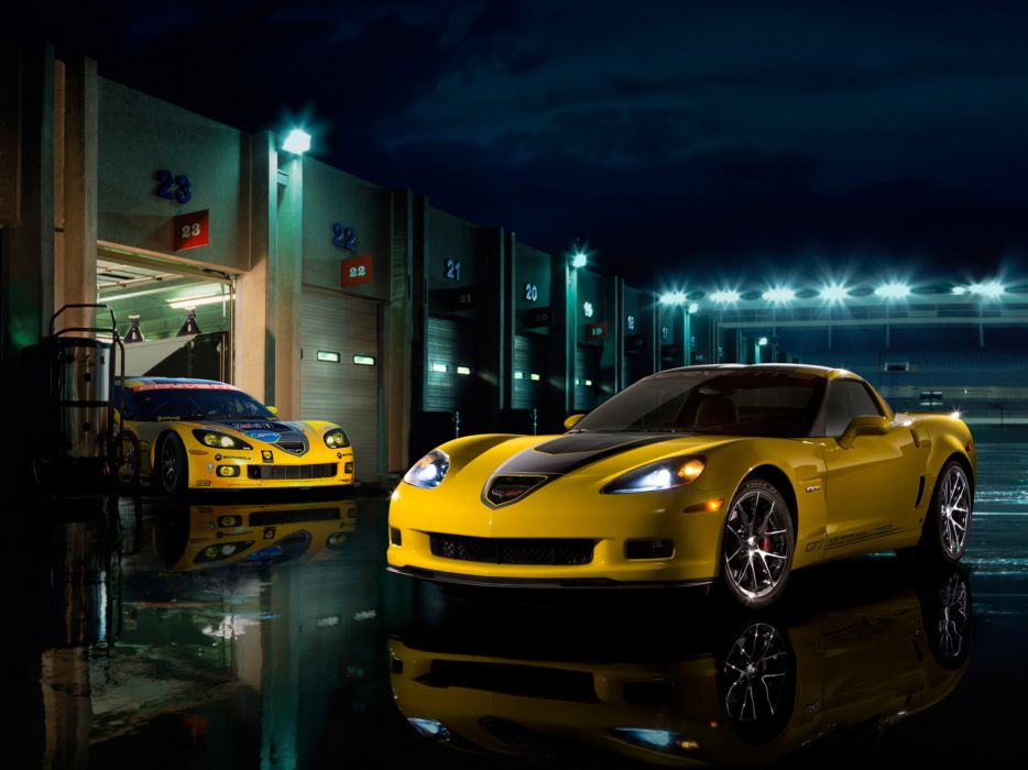 2009 Chevrolet Corvette Z06 GT1 muscle supercar supercars  g wallpaper