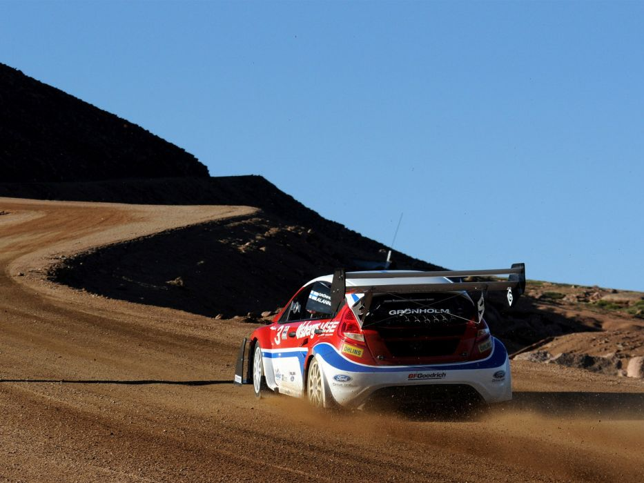 2009 Ford Fiesta Rallycross Pikes Peak race racing     f wallpaper