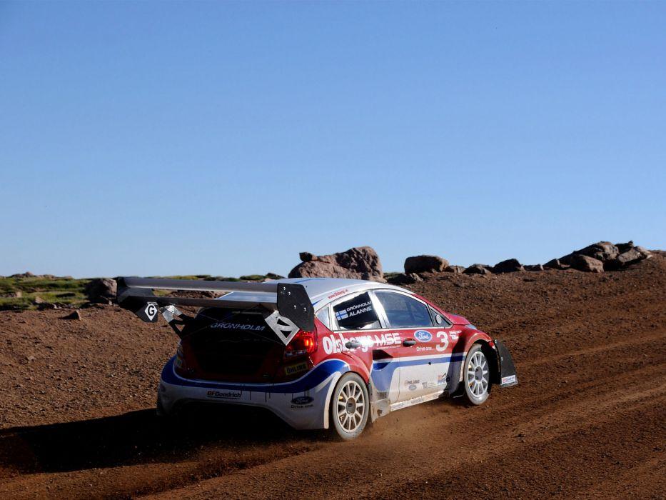 2009 Ford Fiesta Rallycross Pikes Peak race racing    d wallpaper