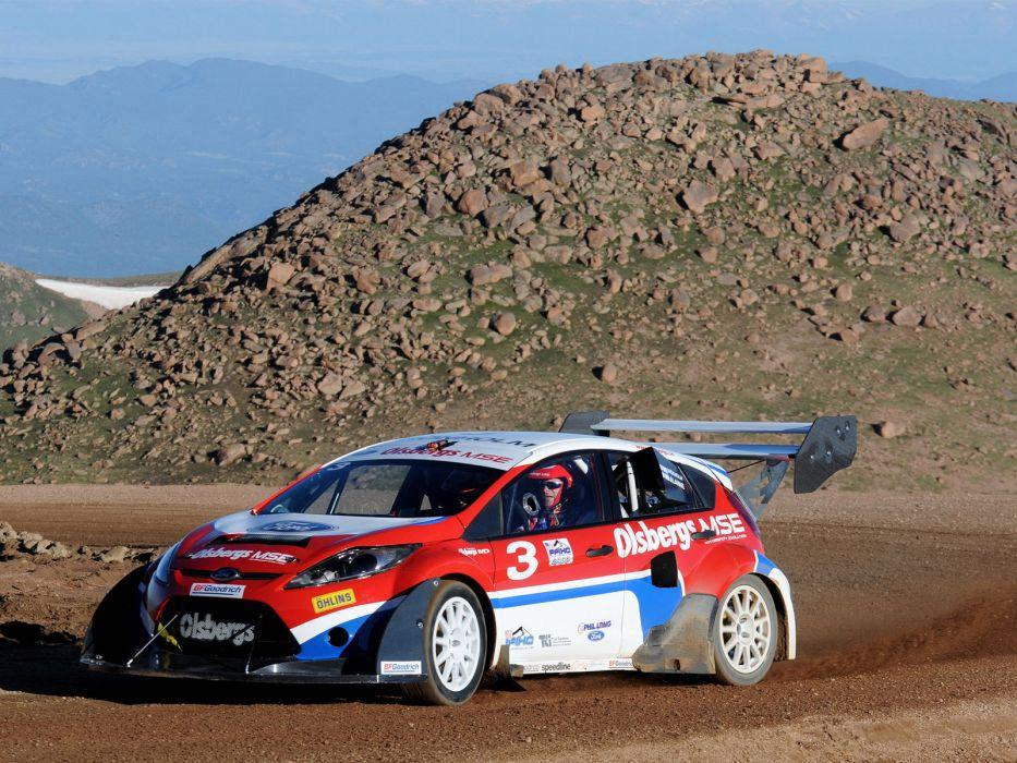 2009 Ford Fiesta Rallycross Pikes Peak race racing    df wallpaper