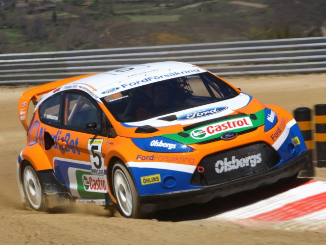 2009 Ford Fiesta Rallycross race racing wallpaper