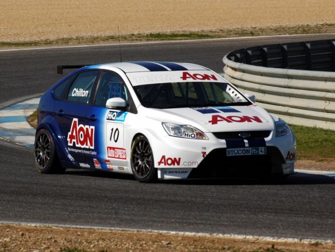 2009 Ford Focus S-T BTCC race racing wallpaper