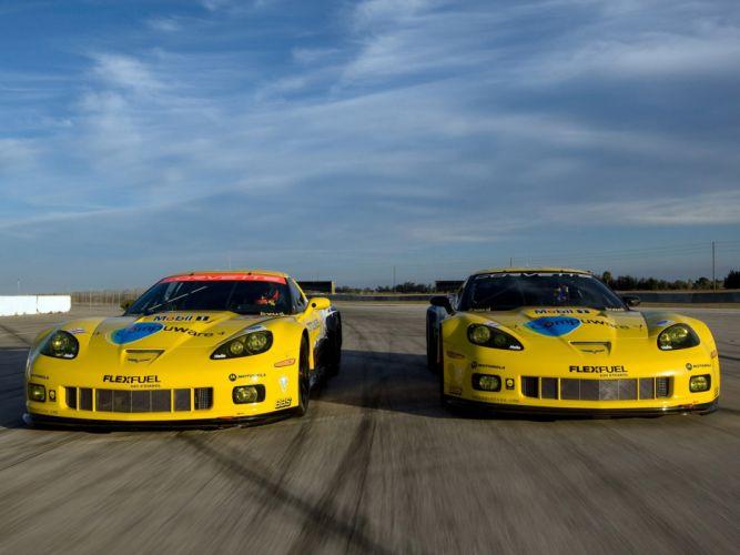 2010 Chevrolet Corvette C6-R GT2 race racing supercar supercars g wallpaper