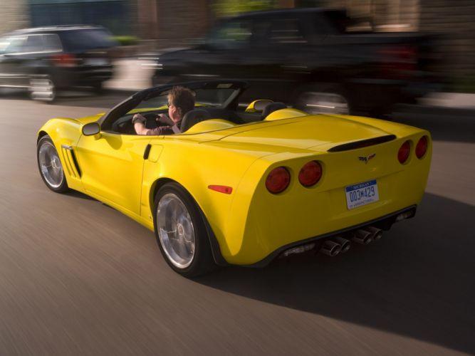 2010 Chevrolet Corvette Grand Sport Convertible muscle supercar supercars dq wallpaper