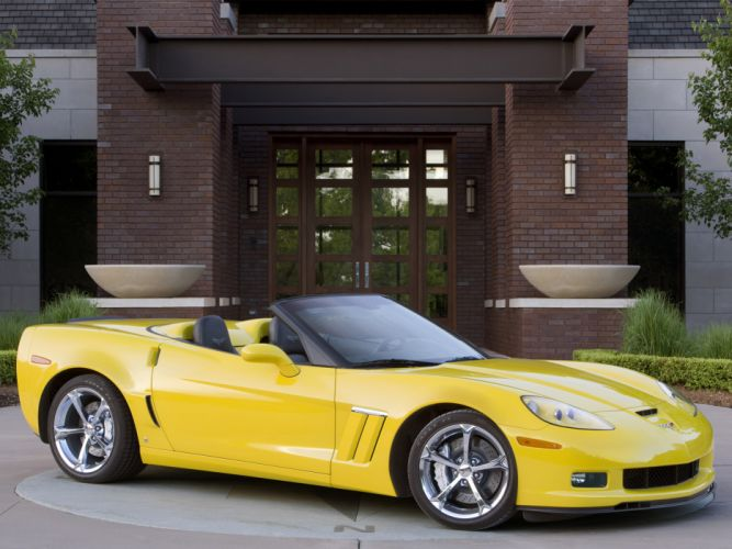 2010 Chevrolet Corvette Grand Sport Convertible muscle supercar supercars f wallpaper