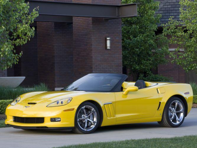 2010 Chevrolet Corvette Grand Sport Convertible muscle supercar supercars fs wallpaper