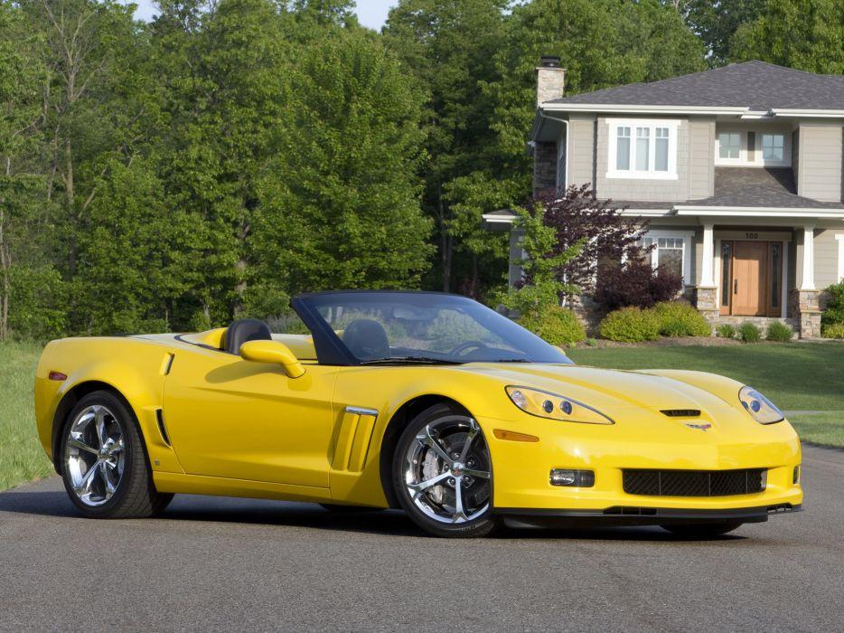2010 Chevrolet Corvette Grand Sport Convertible muscle supercar supercars  d wallpaper
