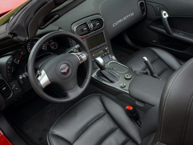 2010 Chevrolet Corvette Grand Sport Convertible muscle supercar supercars interior wallpaper