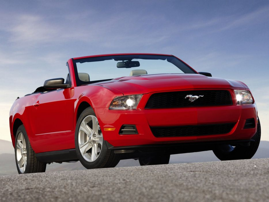 2010 Ford Mustang Convertible muscle wallpaper