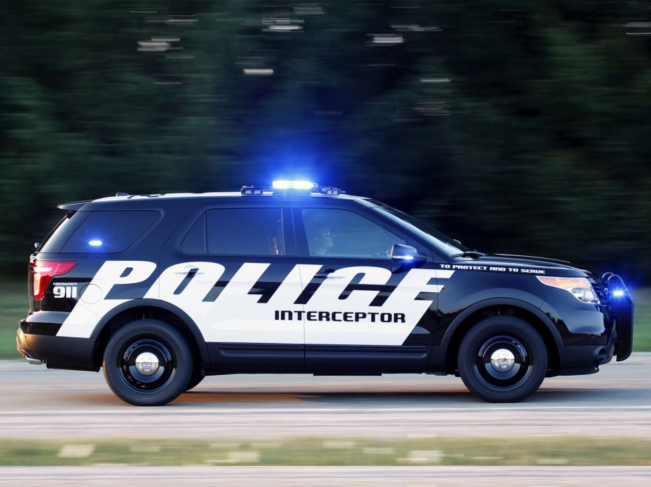 2011 Ford Explorer Police Interceptor suv truck      f wallpaper