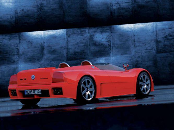 1998 Volkswagen W12 Roadster Concept supercar supercars g wallpaper