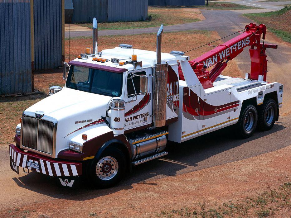 2008 Western Star 4964 SX 6x4 Wrecker truck semi tractor j wallpaper