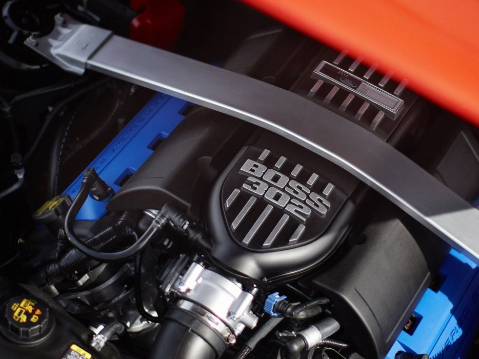 2012 Ford Mustang Boss 302 muscle engine engines wallpaper