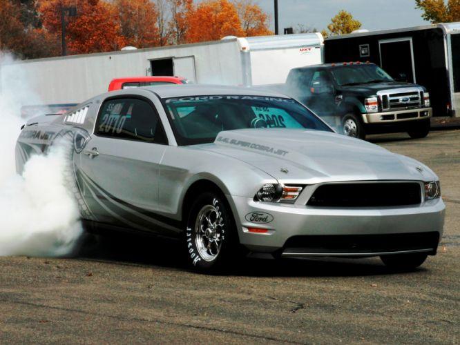 2012 Ford Mustang Cobra Jet muscle hot rod rods drag racing race burnout smoke f wallpaper