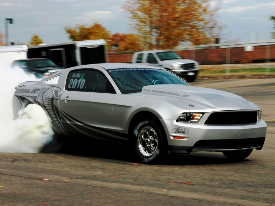 2012 Ford Mustang Cobra Jet muscle hot rod rods drag racing race burnout smoke wallpaper