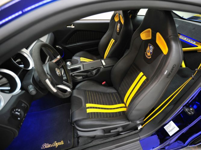 2012 Ford Mustang G-T Blue Angels muscle supercar supercars interior wallpaper