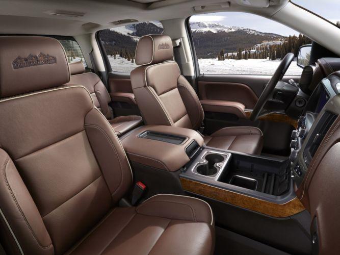 2014 Chevrolet Silverado High Country truck 4x4 interior d wallpaper