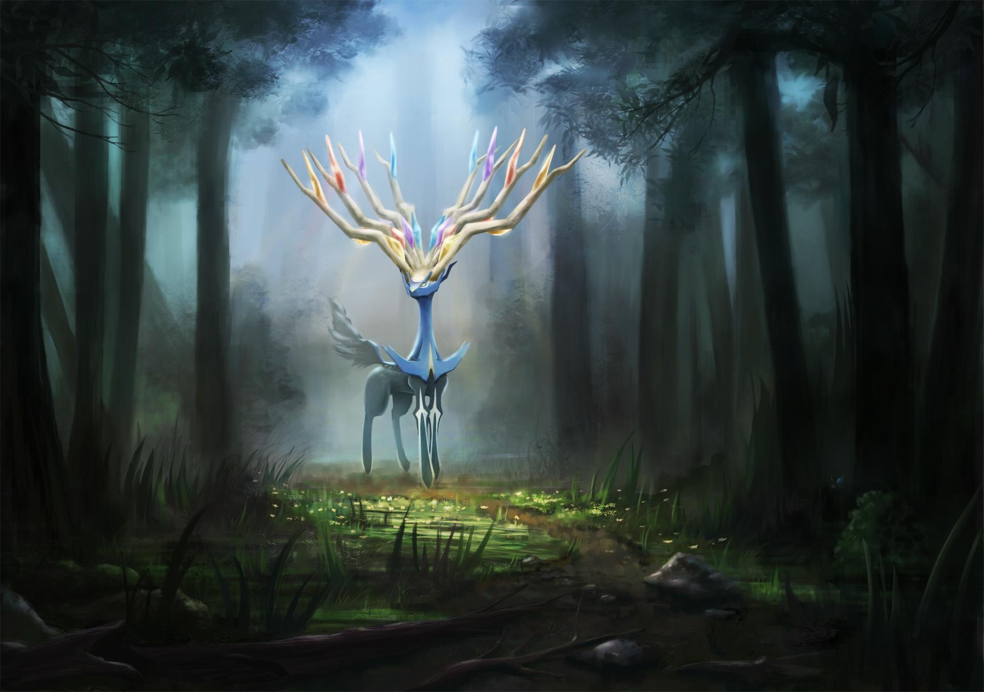 Xerneas Desktop Wallpaper Pokemon dekus forest g...