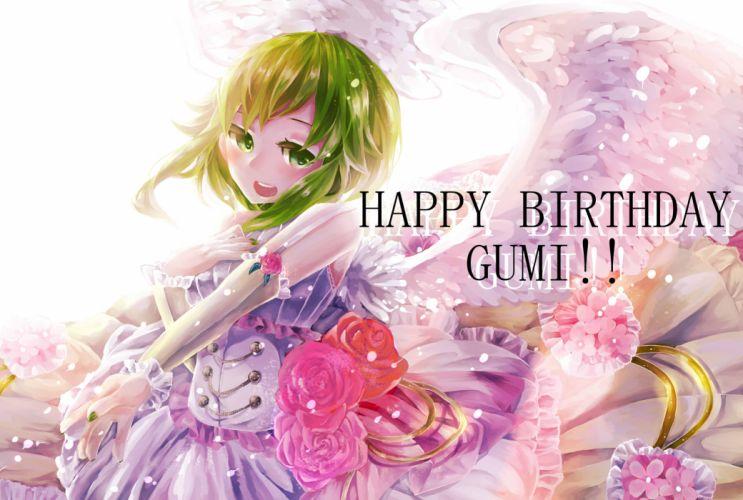 Vocaloid GUMI birthday holiday holidays wallpaper