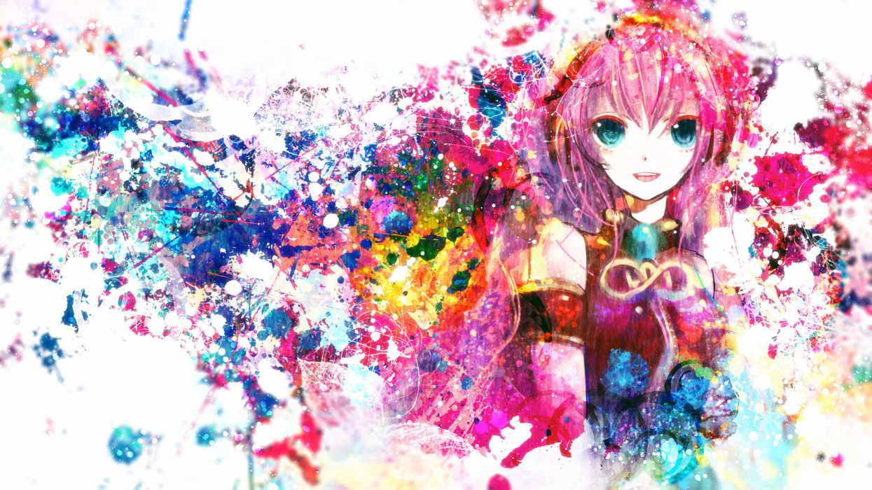 Vocaloid Megurine Luka bokeh psychedelic wallpaper