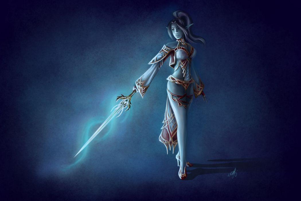 elf elves fantasy warrior warriors sword weapon wallpaper