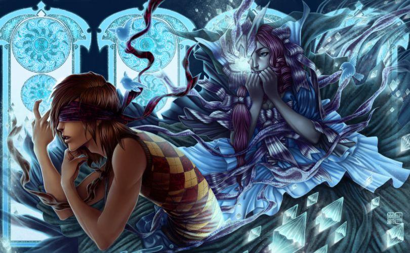 Magic Guys Fantasy Girls girl magic men wallpaper