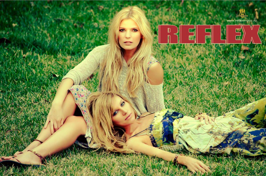 Reflex Irene Nelson Blonde girl Grass Music Girls Celebrities wallpaper