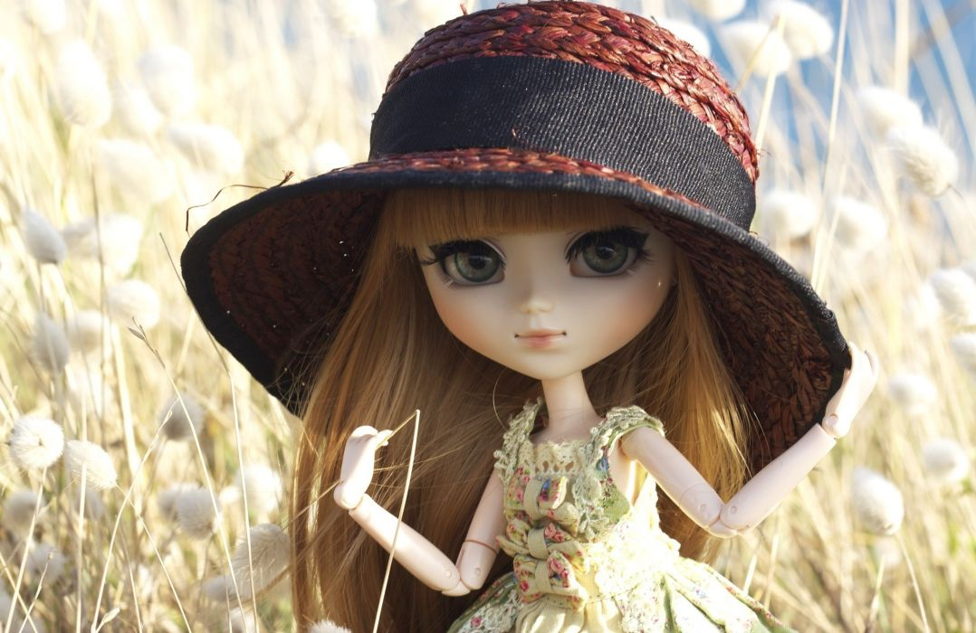 Toys Doll Hat Glance Little girls toy girl mood wallpaper
