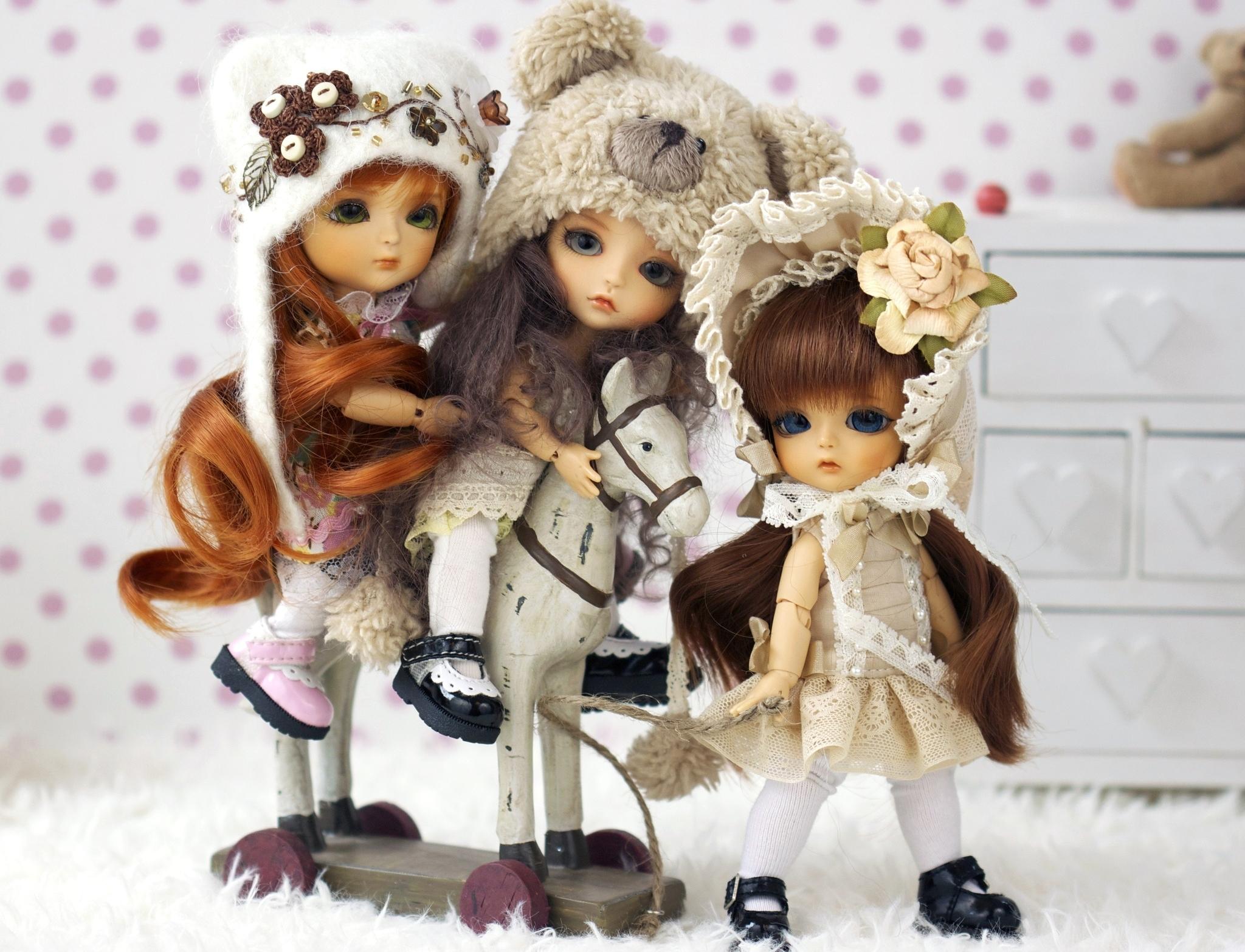 Toys Doll Little girls girl toy bokeh wallpaper