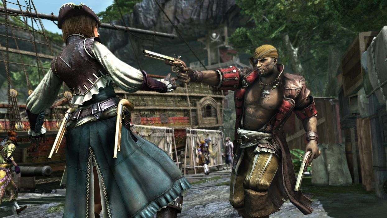 Assassins Creed Warriors Pirates Pistols Men Games pirate warrior battle fantasy wallpaper