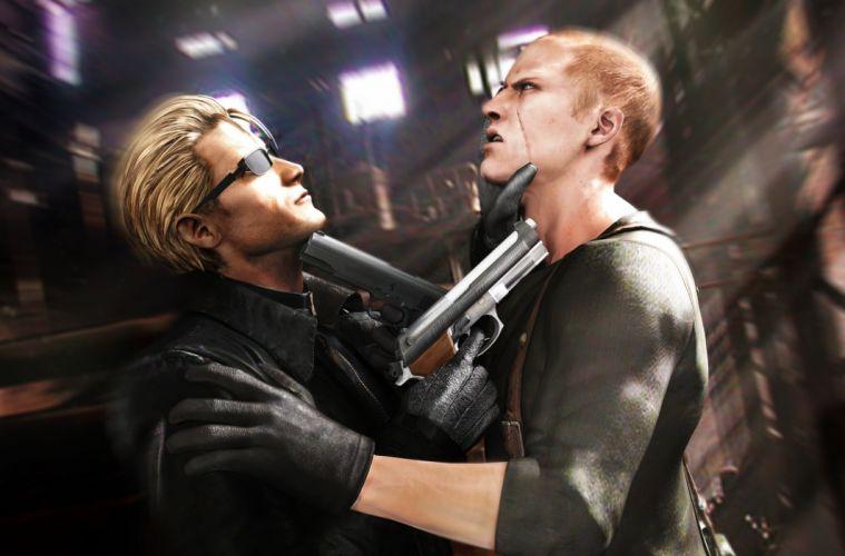 Resident Evil 6 Men Pistols Games weapons weapon gun guns wallpaper