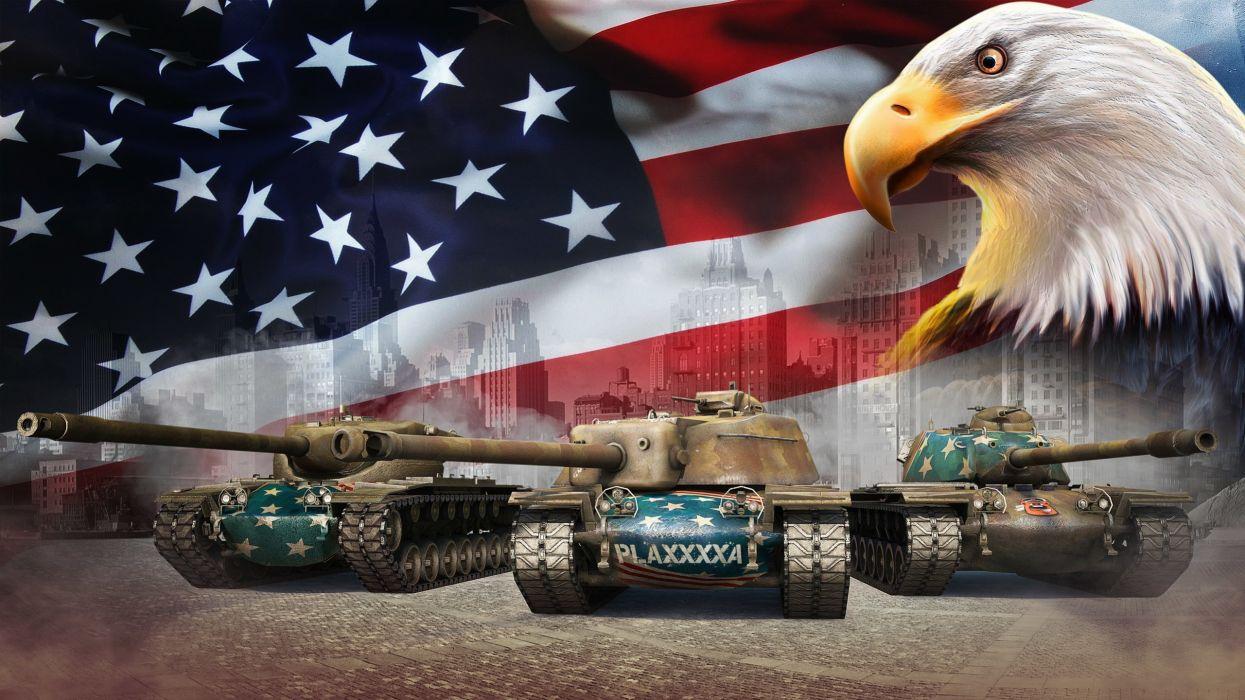 World of Tanks Tank Eagles USA Flag Games military wallpaper