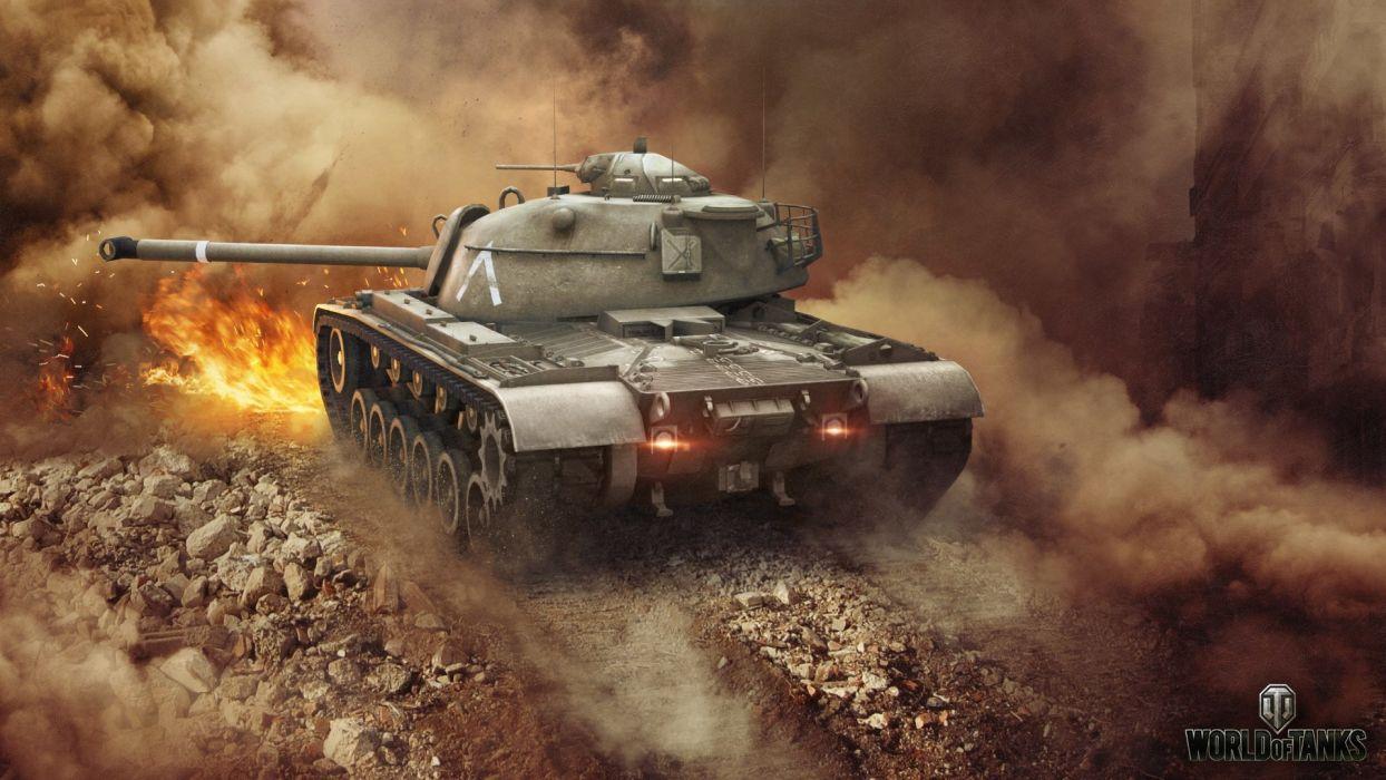 World of Tanks Tank Patton M48A1 Games military wallpaper