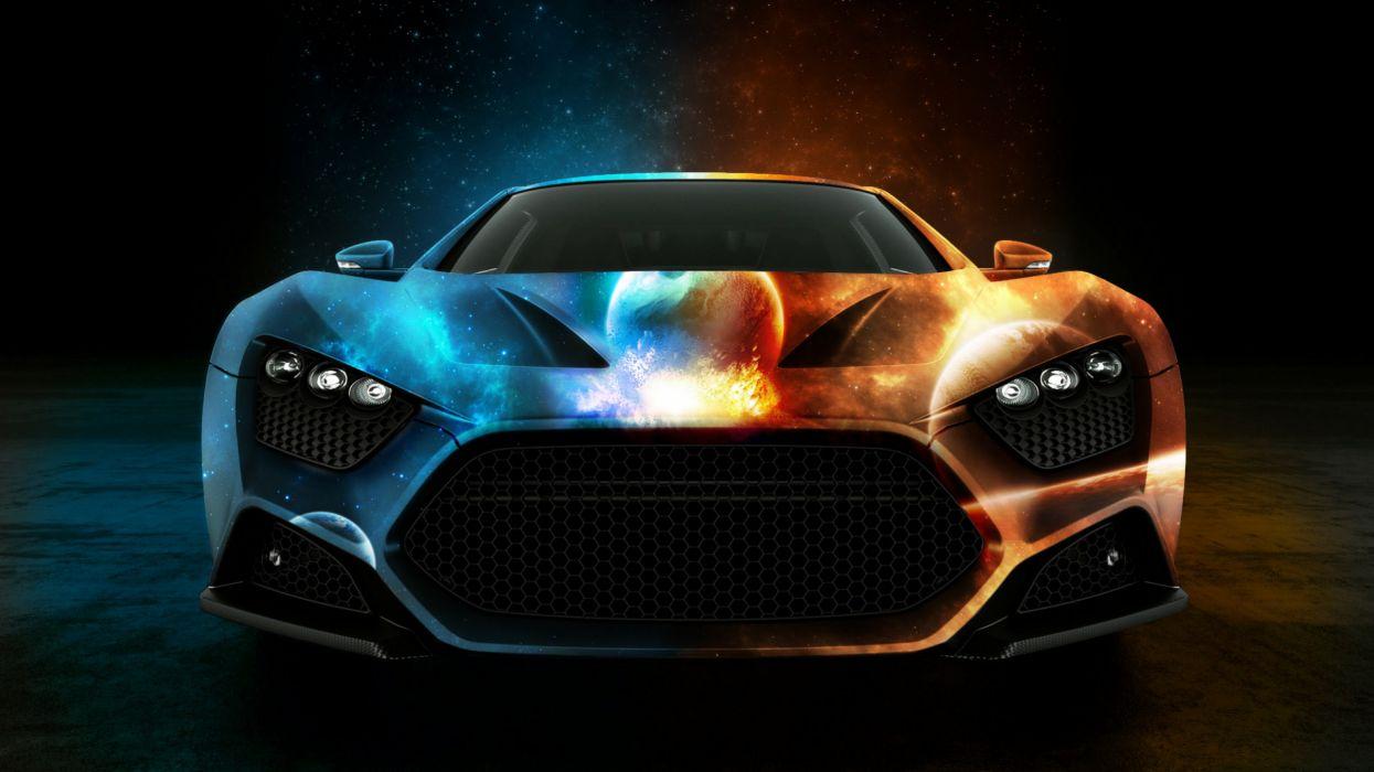 Space car wallpaper
