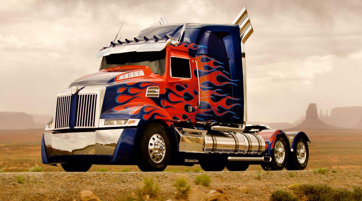 Transformers Trucks Movies mecha semi tractor truck wallpaper