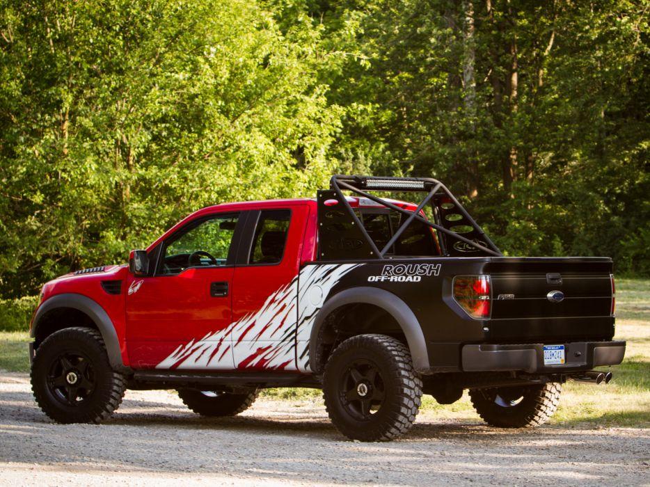 2012 Roush Ford F-150 SVT Raptor 4x4 muscle truck         g wallpaper