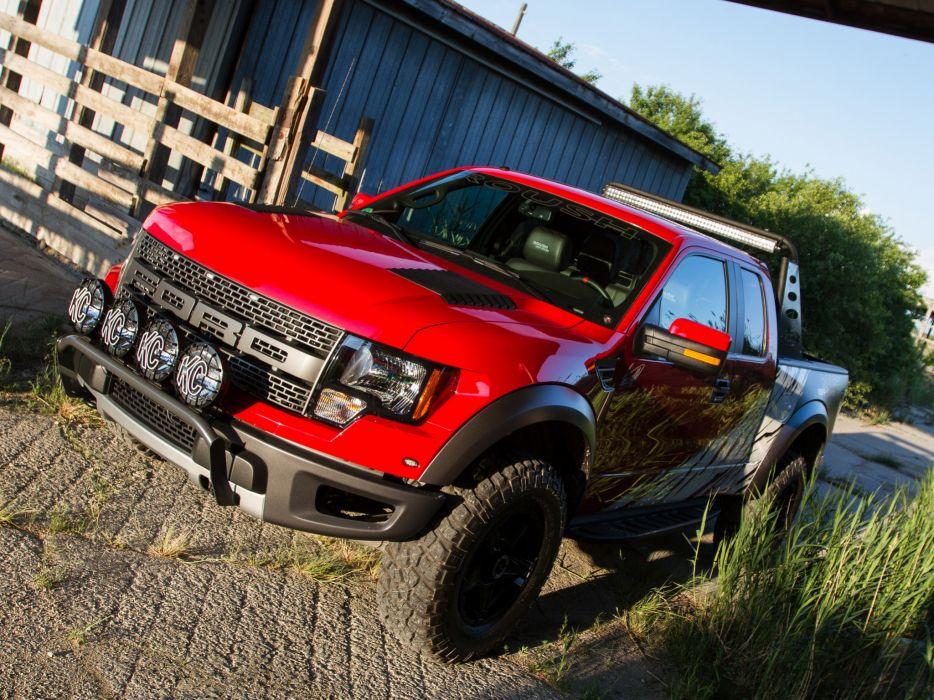 2012 Roush Ford F-150 SVT Raptor 4x4 muscle truck     h wallpaper