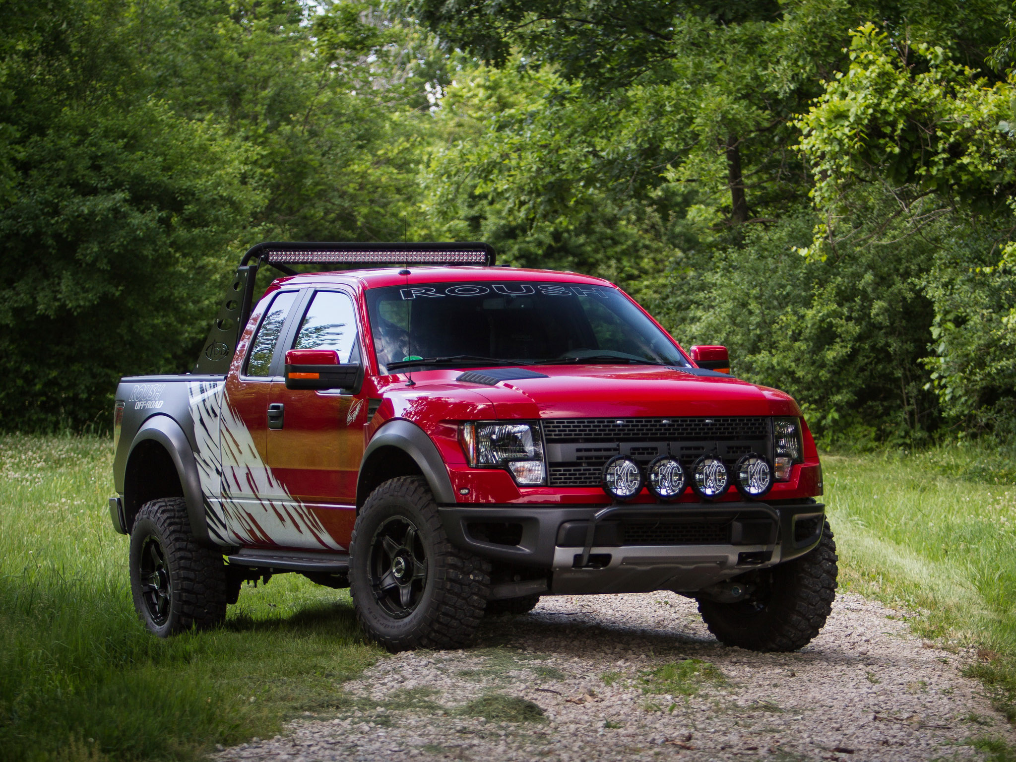 2012 Roush Ford F 150 SVT Raptor 4x4 Muscle Truck H Wallpaper