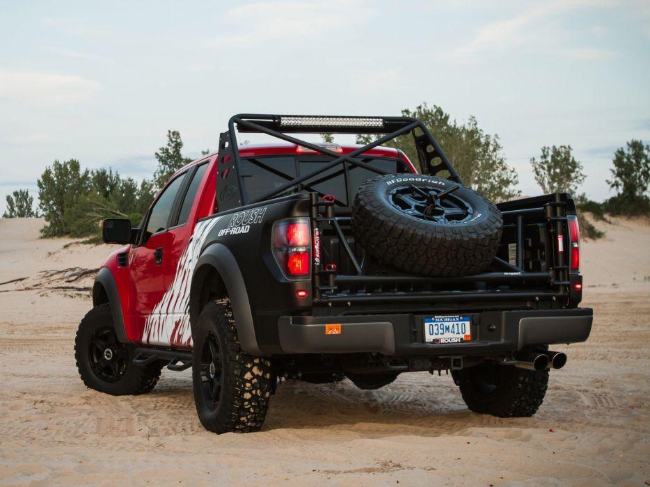 2012 Roush Ford F-150 SVT Raptor 4x4 muscle truck wheel wheels          g wallpaper