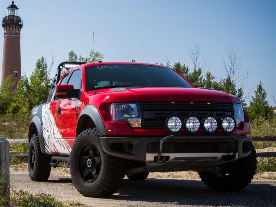 2012 Roush Ford F-150 SVT Raptor 4x4 muscle truck wallpaper