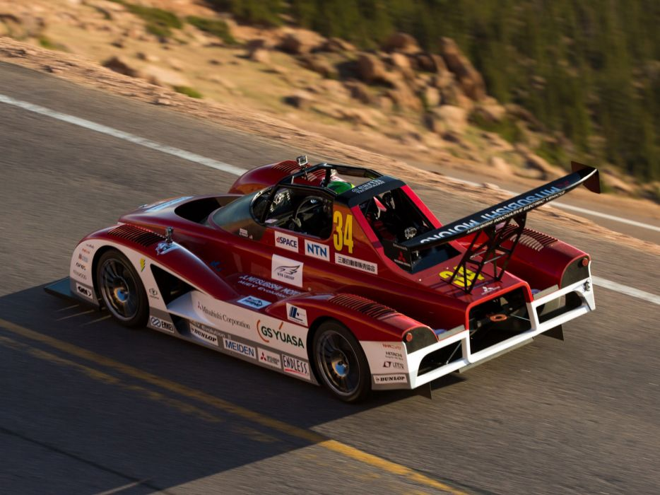 2013 Mitsubishi MiEV Evolution II Electric Pikes Peak race racing j wallpaper