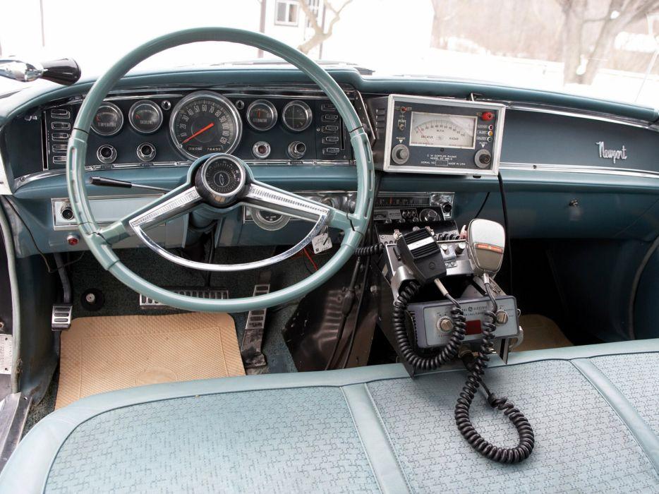 1963 Chrysler Newport Police Cruiser classic muscle interior wallpaper