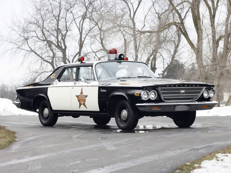 1963 Chrysler Newport Police Cruiser classic muscle wallpaper
