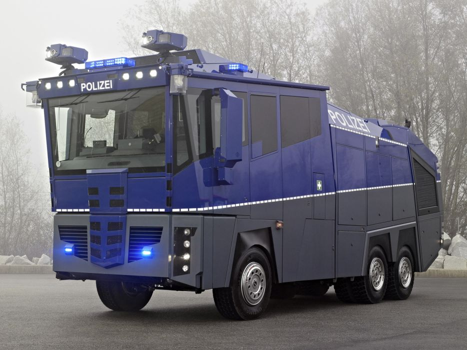 2009 Mercedes Benz Actros 3341 6x6 Police Water Cannon tractor semin truck wallpaper