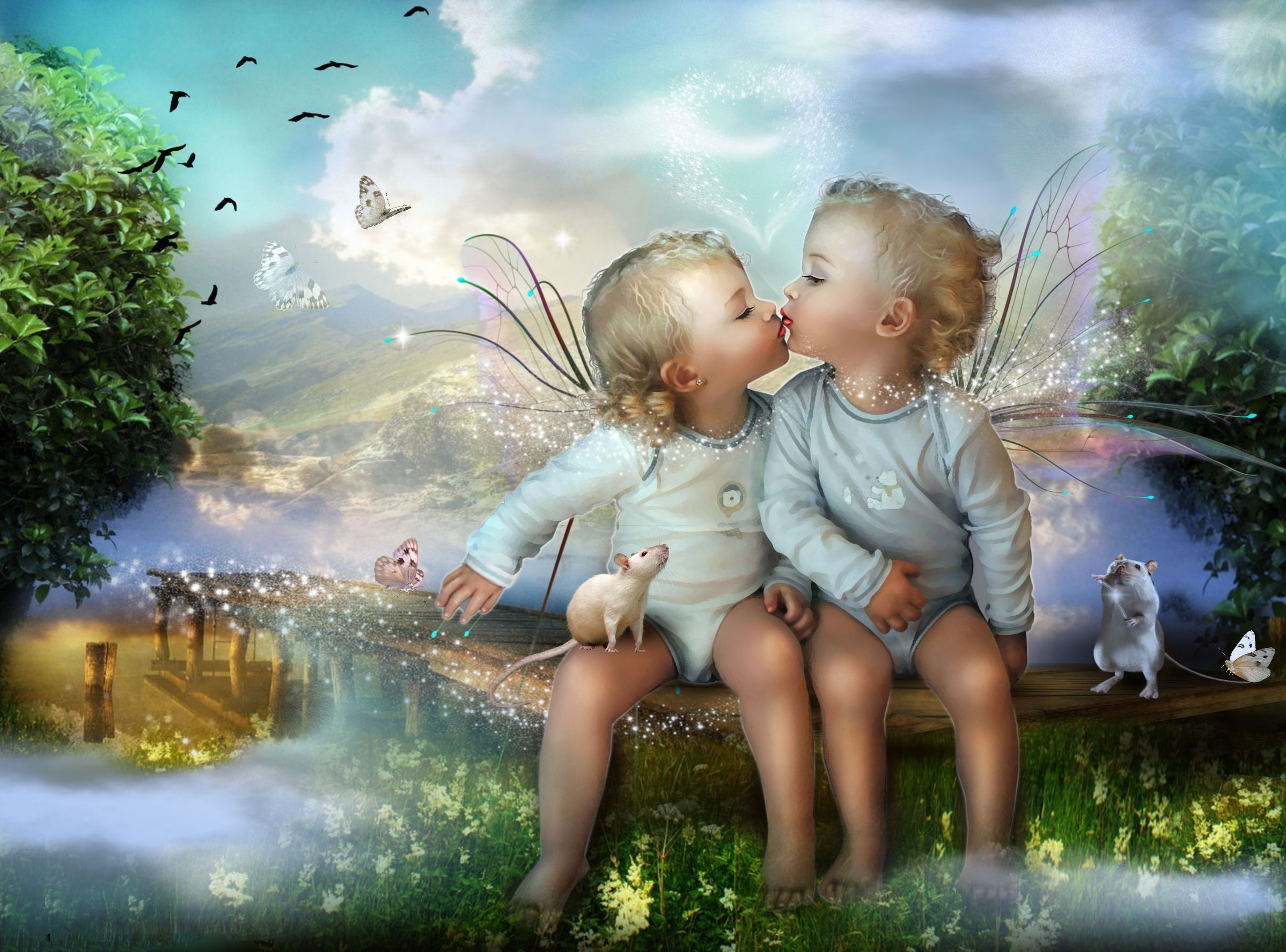 children child baby cute fantasy magic magical bokeh mood fairy wings love wallpaper 2397x1775 ...