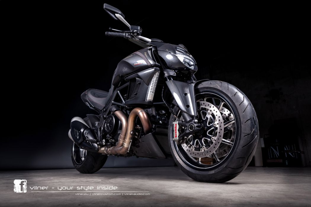2013 Vilner Ducati Diavel superbike superbikes bike engine engines wheel wheels wallpaper