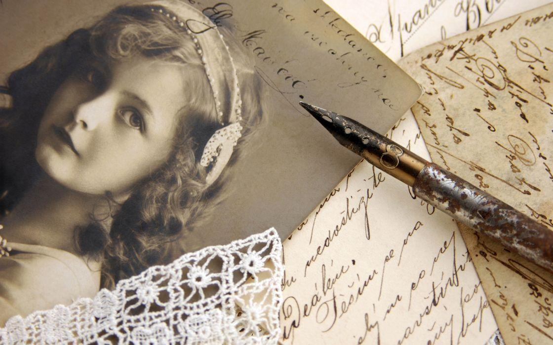 photo writing pen lace vintage style bokeh mood retro wallpaper