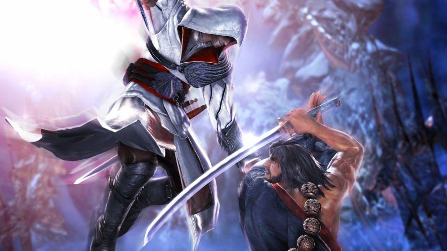 Soul Calibur Sword assassins creed warrior warriors battle fantasy wallpaper