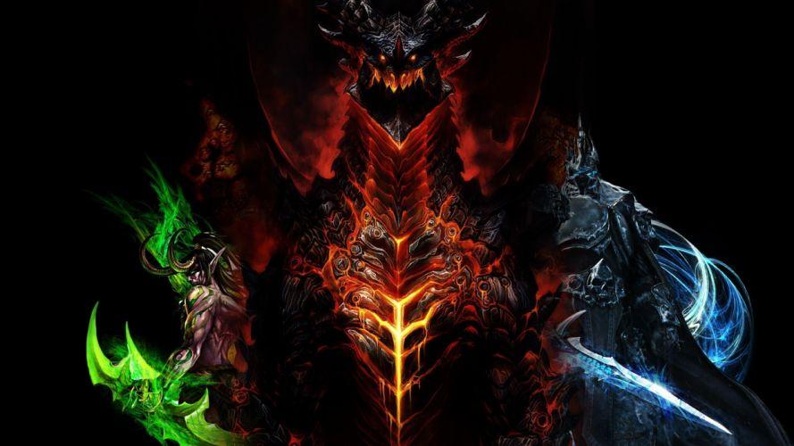World of Warcraft WOW dark demon demons fantasy wallpaper