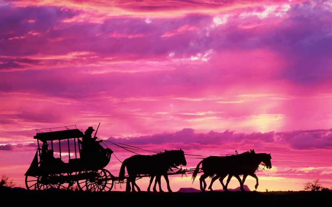 carriage_in_sunset wallpaper